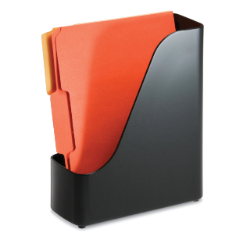 2200 Series Executive Plastic Magazine File, Black
