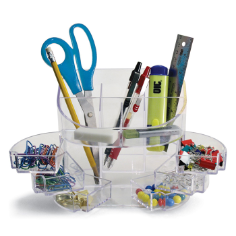2200 Series Double Supply Organizer with 11 Compartments, Clear