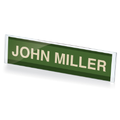 "Name Plate Holder, 8 1/2 W"" x 2""H, Clear"