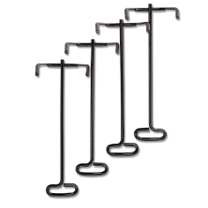 Wire Letter Tray Stacking Posts, 4 PK, Black