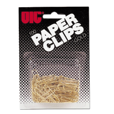 Small Gold Tone Clips and Fasteners / Paper Clips