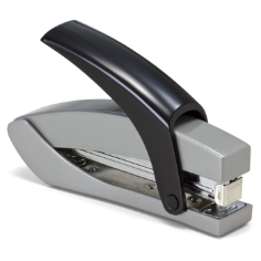 Effortless Desk Full Strip Stapler, Silver/Black