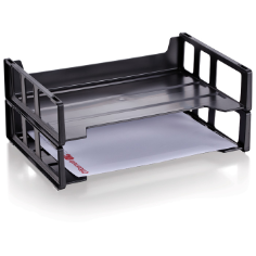Economy Side Load Letter Tray 2/PK, Black