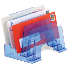 Blue Glacier Incline Sorter, Transparent Blue