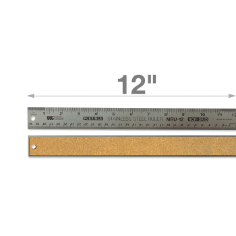 "12"" Stainless Steel Metal Ruler"
