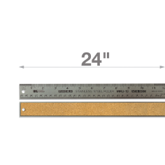 "24"" Stainless Steel Metal Ruler"