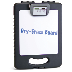 83317 Deluxe Tablet Clipboard Case with Calculator & Dry Erase Board, Charcoal