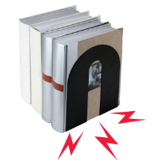 "10"" Heavy Duty Magnetic Bookends"