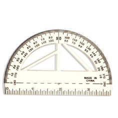 "Protractor 4"" Ruler, Multi-Use"