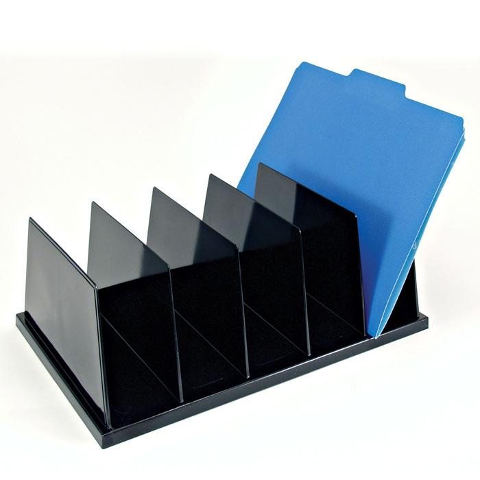 Large Vertical Sorter 5 Compartments Black