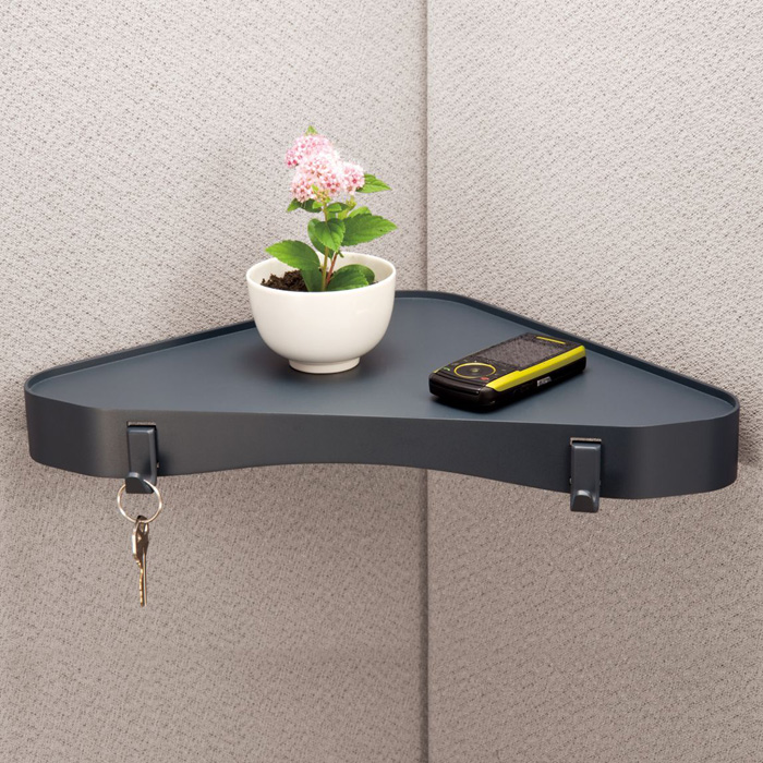 Verticalmate Cubicle Corner Shelf