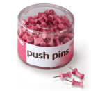 Breast Cancer Awareness Push Pins, 200/Tub, Pink