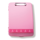Breast Cancer Awareness Slim Clipboard Storage Box, Pink