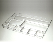 Drawer Tray, 9 Compartments, Smoke