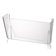 Wall File, Letter Size, Clear