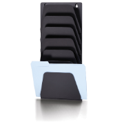 Wall File Holder, 7 Compartments, Black