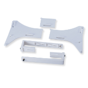 Unbreakable Hanger Set with Back Plate, Clear
