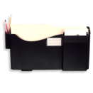 Grande Central Filing System Starter Pocket with Pen Holder & Envelope Slot, Black