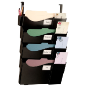 Grande Central Filing System 4 Pockets with Hangers, Black