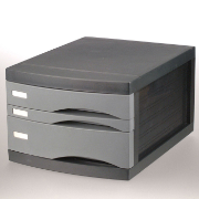 Document Drawer with Removable Organizer, Charcoal