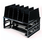 Large Sorter with 2 Letter Trays, Black