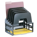 Large Incline Sorter with Letter Trays, Black