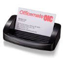 2200 Series Business Card/ Clip Holder, Black