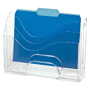 2-Way Organizer, 3-Tier, Clear