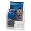 2-Way Multi-Use Literature Holder,Clear