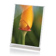 "Premium Slanted Vertical Sign/Photo Holder, 4""W x 6""H, Clear"