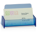 Blue Glacier Business Card Holder, Transparent Blue