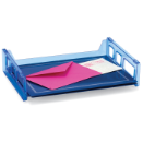 Blue Glacier Side Load Letter Tray 2, Transparent Blue