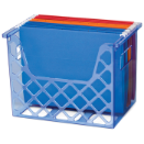 Blue Glacier Desktop File Organizer, Transparent Blue