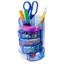 Blue Glacier Supply Organizer, Transparent Blue