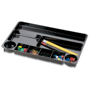 Recycled Drawer Tray, 9 Compartment, Black