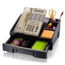 Recycled Drawer with Telephone Stand, Black
