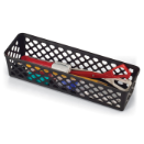 Achieva Supply Basket, Long, 3/PK, Black