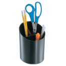 Antimicrobial Big Pencil Cup, with 3 stepped compartments, Black