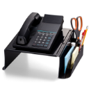 Antimicrobial telephone Stand, Black