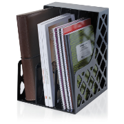 Recycled Adjustable Super Magazine File, Black