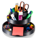 Recycled Deluxe Rotary Organizer, Black