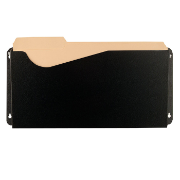 Heavy Duty Antimicrobial Wall File, Letter/Legal, Black