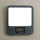 Verticalmate Cubicle Mirror with Digital Clock, Gray