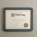 Verticalmate Certificate Holder, Gray
