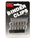 "Binder Clips, Small, 3/4"" Wide, 6/CD, Black"