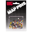 Map Pins, 100/CD, Assorted Colors