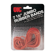 "Rubber Bands, Jumbo, 7 1/2"" Red"