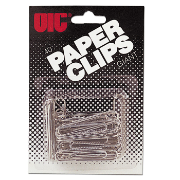 Giant Clips and Fasteners / Paper Clips, Blister Card