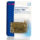 Jumbo Gold Tone Clips and Fasteners / Paper Clips