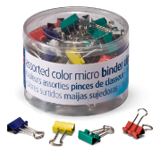 Micro / Binder Clips, Assorted Colors